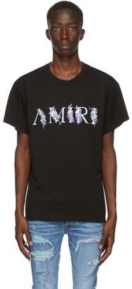 Amiri Black Floral Logo T-Shirt