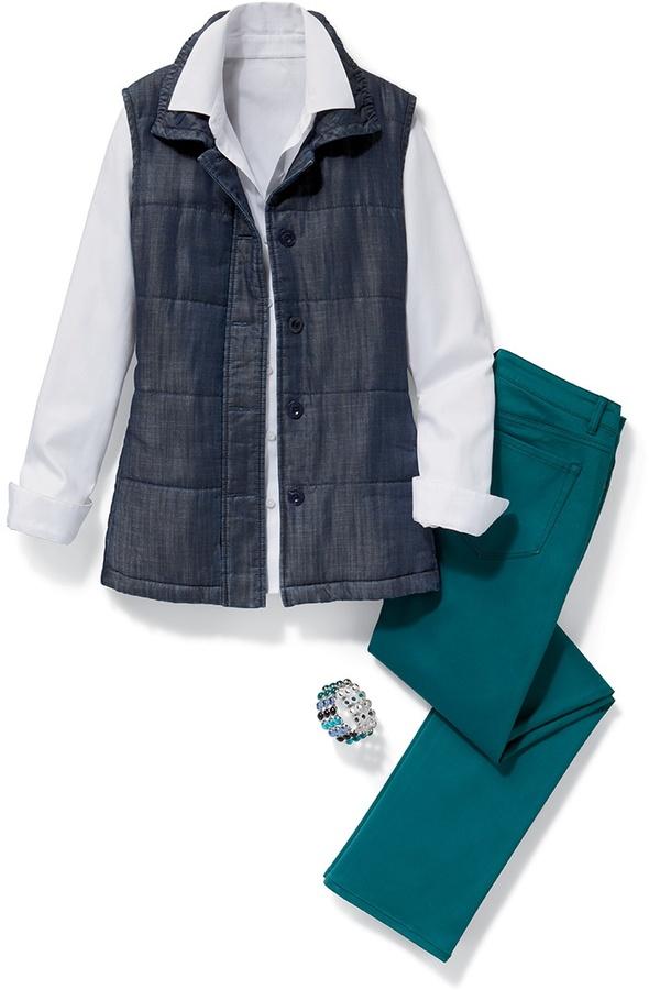 Coldwater Creek Tencel® quilted vest