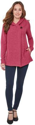 Joe Browns Fine Knit Hooded Cardigan with Button Fastening