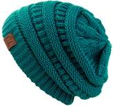 C.C Unisex Trendy Warm Chunky Soft Stretch Cable Knit Slouchy Beanie Skully HAT20A
