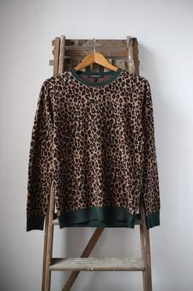Scotch & Soda Leopard Print Crew Neck Jumper - S