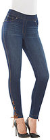 Peter Nygard Nygard Slims Luxe Denim Lace Up Ankle Pants