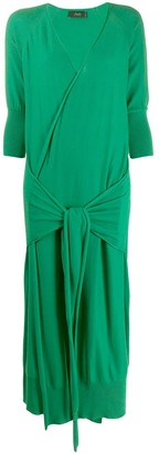 Maison Flaneur Wrap Style Knitted Dress
