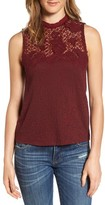 Lucky Brand Women's Lace Mock Neck