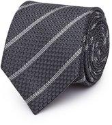 Reiss Weston - Striped Silk Tie in Grey, Mens