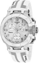 Tissot T-Race T0484171701200 Men's White Silicone Chronograph Watch