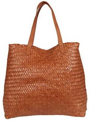 Madewell Transport Tote Woven Edition (Burnished Caramel) Handbags