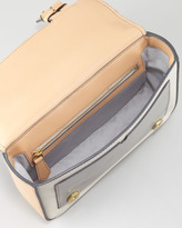 Reed Krakoff Academy Shoulder Bag, Almond/Auburn