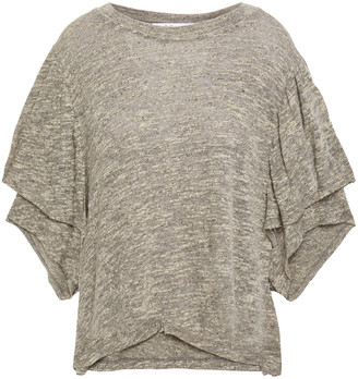 IRO Yoder Layered Melange Cotton-blend Jersey T-shirt