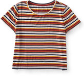 Prince & Fox Multi Stripe Cropped Marine Tee