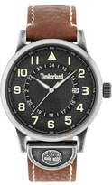 Timberland Cohasset Leather Strap Watch, 45mm