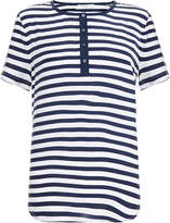 Equipment Prescott Striped Silk T-Shirt