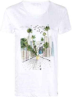 Patrizia Pepe embellished LA T-shirt