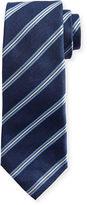 Isaia Narrow-Stripe Silk Tie
