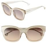 Alice + Olivia Women's Victoria 50Mm Cat Eye Sunglasses - Black/ White