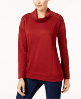 Style&Co. Style & Co Petite Funnel-Neck Sweatshirt, Created for Macy's