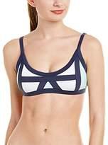 Pilyq Women's Color Block Bralette Bikini Top