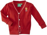 Little Green Radicals Pointelle Cardigan (Baby) - Red-3-6 Months