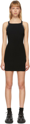 Alexander Wang Black Logo Trim Bodycon Dress