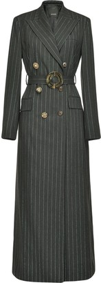 Pinko Pinstriped Midi Coat