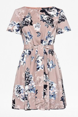 French Connection Amalfi Corsetta Floral Belted Dress
