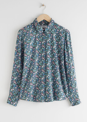 And other stories Spotted Button Up Shirt