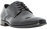 Dune Razz Embossed Patent Leather Derby Shoes, Black
