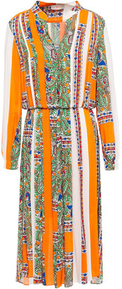Tory Burch Pleated Printed Woven Dress