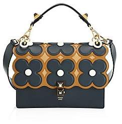Fendi Women's Kan I Floral Leather Shoulder Bag