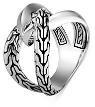 John Hardy Sterling Silver Classic Chain Knife Edge Statement Ring