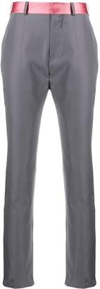 Haider Ackermann Contrast Waistband Trousers