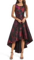 Eliza J Women's Floral Jacquard High/low Gown