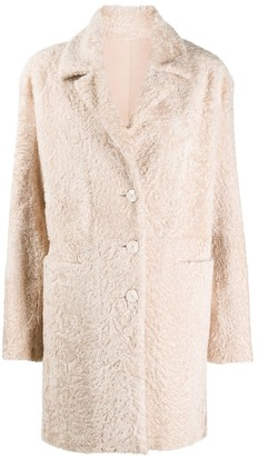 Drome Shearling Single Breasted Coat