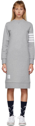 Thom Browne Grey 4-Bar Sweater Dress