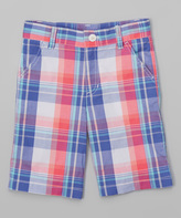 E-Land Kids Heliotrope Plaid Shorts - Boys