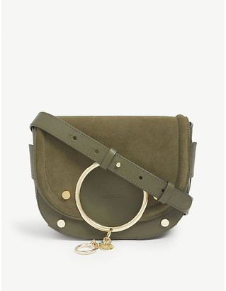 See by Chloe Mara suede crossbody saddle bag