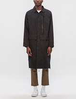 Stampd Washed Zipper Trench Coat