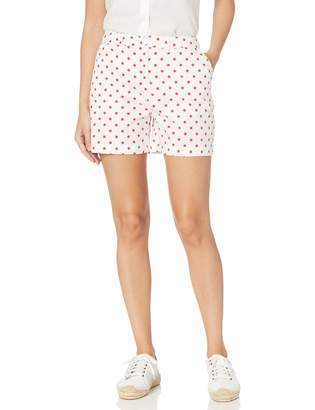 Caribbean Joe Women's Petite Clean Front Cuffed Short with Pockets