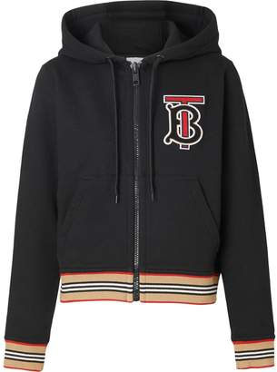 Burberry Icon Stripe zip-front hoodie