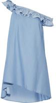 Jonathan Simkhai Off-the-shoulder Ruffled Tencel Mini Dress