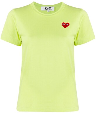 Comme des Garcons logo-patch crew neck T-shirt