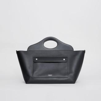 Burberry Medium Leather Soft Pocket Tote