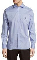 Psycho Bunny Modern Fit Cotton Button-Down Shirt
