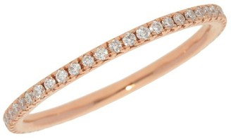 Nephora Eternity Pave Diamond Rose Gold Stackable Ring