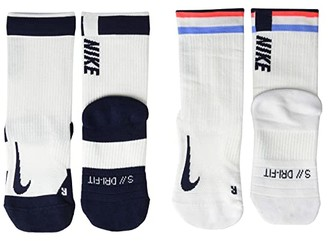 Nike NikeCourt Multiplier Max Crew Socks 2-Pair Pack (Multicolor) No Show Socks Shoes