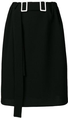 Lee Edeline double-buckle pencil skirt