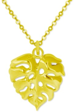 """Kona Bay Palm Frond Pendant Necklace in Gold-Plate, 16"""" + 2"""" extender"""