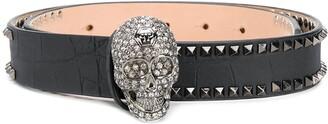 Philipp Plein embellished Skull belt