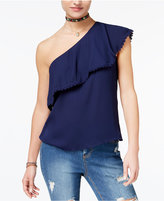 Love, Fire Juniors' One-Shoulder Ruffle Top