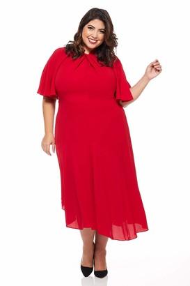 Maggy London Women's Novelty Crepe Twist Neck Dress